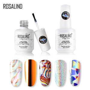 ROSALIND Transfer Gel Nail Polish Kit Need Tranfer Sticker For Manicure Nail art Set Gel lacquer Base top Coat Varnishes - Haute Swan LLC