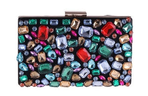 Luxury Black Minaudiere Clutch Gemstone Evening Bags ZD636 - Luxy Moon - Haute Swan LLC