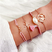 Load image into Gallery viewer, Vintage Heart Boho Bohemian Turtle Shell Tassel Beads Bracelets