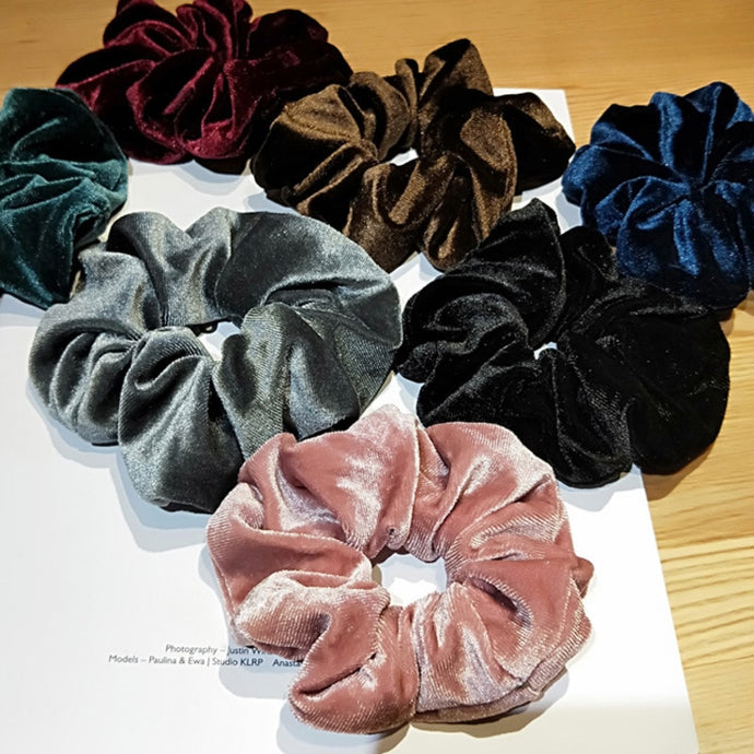 Plush Velvet Scrunchie Ponytail Hair Band