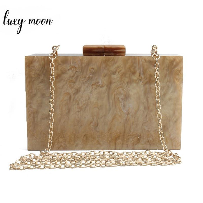 Vintage Pearly Style Acrylic Party Evening Hand Bag ZD1477 - Luxy Moon - Glitzy Swan