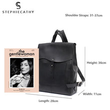 Load image into Gallery viewer, Italian Leather Vintage Style Flap Buckle Backpack Bag - Stephie Cathy - Glitzy Swan