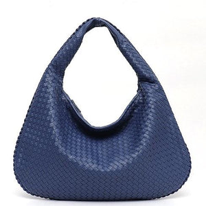 Vegan Leather Hobo Bag Woven Small or Large Shoulder Bags - Stephie Cathy - Glitzy Swan