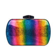 Load image into Gallery viewer, Luxury Acrylic Rainbow Box Evening Bag ZD1564 Rainbow  - Luxy Moon - Glitzy Swan