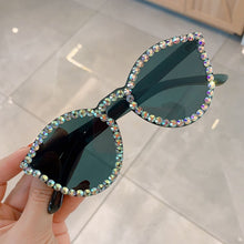 Load image into Gallery viewer, Sexy Cat Eye Sunglasses Women Rimless Vintage Rhinestone Sun Glasses Female Lady Candy Color 2019 Eyewear Triangle Shades UV400