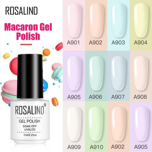ROSALIND Gel Varnishes Gel Nail Polish For Manicure Varnish Hybrid Semi Permanent Top Base Of Nails Macaron Gel Polish - Glitzy Swan
