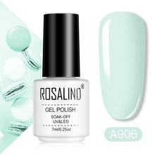 Load image into Gallery viewer, ROSALIND Gel Varnishes Gel Nail Polish For Manicure Varnish Hybrid Semi Permanent Top Base Of Nails Macaron Gel Polish - Glitzy Swan