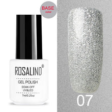Load image into Gallery viewer, ROSALIND Crackle Gel Nail Polish For Nail art manicure Set Air dry nail polish Need Base Color Gel Varnishes Lacuqer - Haute Swan LLC