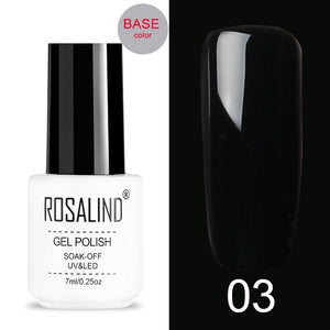 ROSALIND Crackle Gel Nail Polish For Nail art manicure Set Air dry nail polish Need Base Color Gel Varnishes Lacuqer - Haute Swan LLC