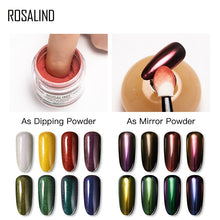 Load image into Gallery viewer, ROSALIND Nail glitter dipping powder Mirror Effect 2 in 1 Holographic For Manicure pigment dip powder set Nail Art Decorations - Haute Swan LLC