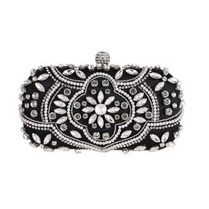Luxury Exquisite Crystal Party Clutch Hand Bags ZD1336 Black - Luxy Moon - Glitzy Swan