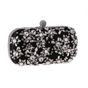 Luxury Exquisite Crystal Party Clutch Hand Bags - Luxy Moon - Glitzy Swan