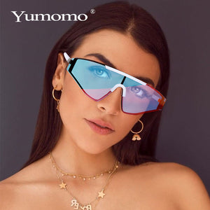 New Rimless Square Sunglasses Women 2020 Gradient Rectangle Sunglasses Men Fashion Sunglasses Brand Designer oversized Eyewear