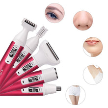 Load image into Gallery viewer, 5 in 1 Women Epilator Female Eyebrow Trimmer Lady Shaver For Hair Removal Shaving Machine Face depilador Bikini Depilatory P40 - Haute Swan LLC