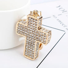Load image into Gallery viewer, Rhinestone Crystal Exquisite Cross Key Chain - Glitzy Swan