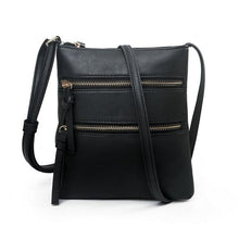 Load image into Gallery viewer, Small Vegan Leather Crossbody Messenger Bag - Cezira - Glitzy Swan