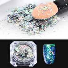 Load image into Gallery viewer, Holographic Chameleon Laser Multicolor Sequins  Christmas Nail Decor Manicure Nail Art Glitter Flakes UV Gel Nail Art Tool - Haute Swan LLC