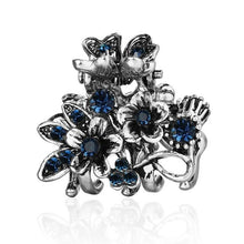 Load image into Gallery viewer, Vintage Flower Hair Claws for Women Female Elegant Crystal Hairpin Crab Rhinestone Metal Hair Clips Hair Jewelry Accessories - Glitzy Swan