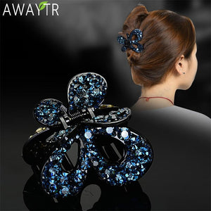 Beautiful Colors Crystal Butterfly Hair Claws Clips Hair Accessories - Glitzy Swan