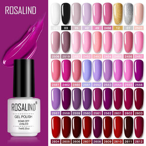 ROSALIND Gel Polish Set UV Vernis Semi Permanent Primer Top Coat 7ML Poly Varnish Gel Nail Art Manicure Gel Lak Polishes Nails - Glitzy Swan