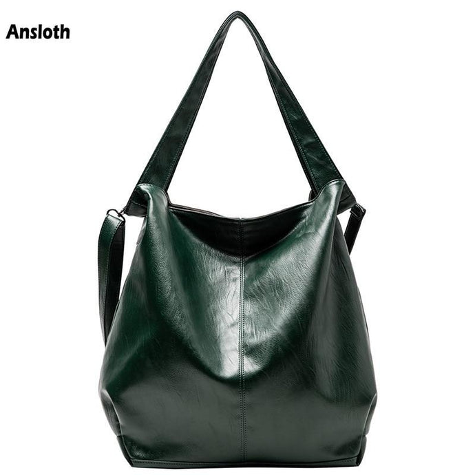 Vegan Leather Soft Casual Tote Shoulder Bags - Ansloth - HPS884 - Glitzy Swan