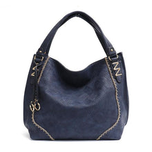 Load image into Gallery viewer, Luxury Soft Vegan Leather Large Tote Hobo Shoulder Bags - Cezira - Glitzy Swan