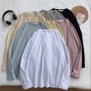 8 Colors Women T-shirts Short Sleeve Casual Loose Bottoming Solid Female Basic Tops Ladies Tee Shirt Summer Plus Size Clothes