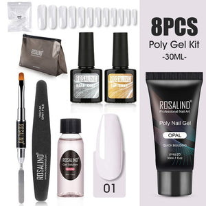 ROSALIND Poly Nail gel Kit Gel Polish All for Manicure Gel Extension Set 30ML Poly Nail Gel Art Tool Kit Professional Set - Haute Swan LLC