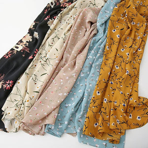 Polka Floral Bubble Chiffon Print Scarf - Many Colors & Prints - Glitzy Swan