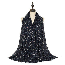 Load image into Gallery viewer, Polka Floral Bubble Chiffon Print Scarf - Many Colors & Prints - Glitzy Swan