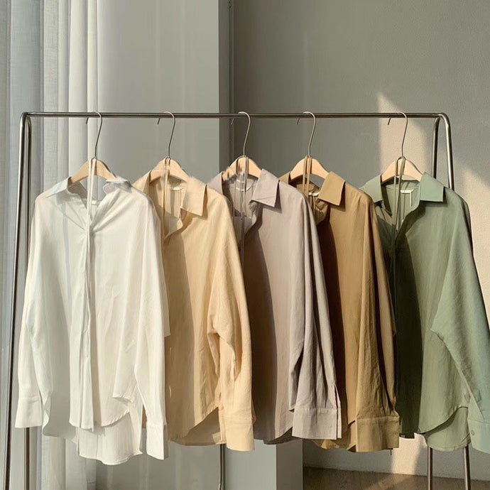 Toppies cotton linen tops blouses long sleeve khaki shirts drawstring waist oversized tops 2020