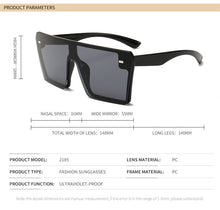 Load image into Gallery viewer, Luxury Oversized Square Sunglasses UV400