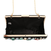 Load image into Gallery viewer, Luxury Black Minaudiere Clutch Gemstone Evening Bags ZD636 - Luxy Moon - Haute Swan LLC