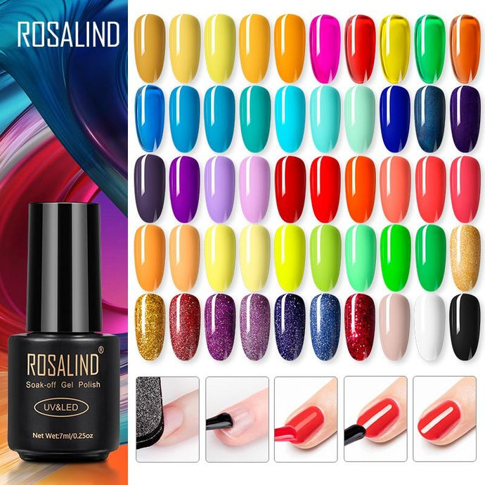 ROSALIND Gel polish Hybrid Varnishes For Nails Manicure Autumn Colors base primer Nail art Gel nail polish semi permanent enamel - Glitzy Swan