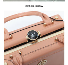Load image into Gallery viewer, Luxury Patent PU Leather Vegan Leather Case Hand Bag - Stephie Cathy - Glitzy Swan