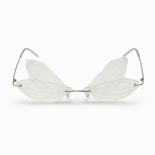 Luxe Steampunk Dragonfly Wing Cat Eye Sunglasses UV400 - Haute Swan LLC