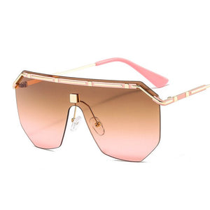 Metal Square Sunglasses Women Brand Designer Retro Mirror Fashion Sun Glasses Men Vintage Shades Lunette De Soleil Femme UV400