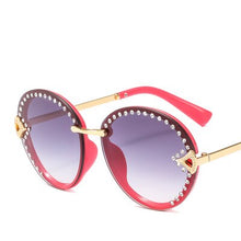 Load image into Gallery viewer, Vintage Oval Sunglasses Women Luxury Rhinestone Metal Fashion Frame Retro Sun GlassesGradient Colorful Lens Brand Eyewear UV400 - Haute Swan LLC