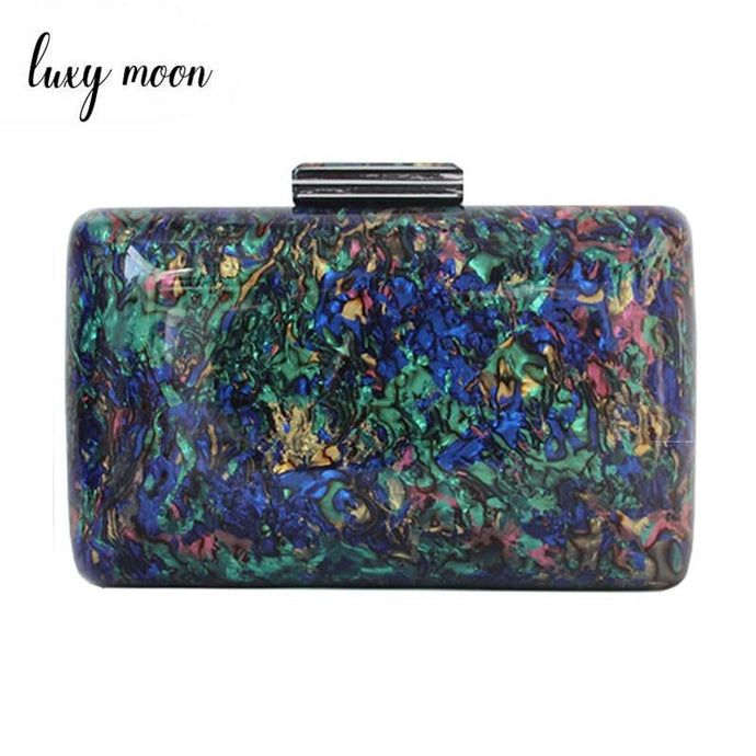 Luxury Vintage Style Acrylic Multi Colored Evening Bag D1514  - Luxy Moon - Glitzy Swan