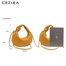 Load image into Gallery viewer, Chic Luxury Soft Hobo Vegan Leather Shoulder Bag - Cezira - Glitzy Swan