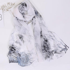 Stunning Silk Georgette Chiffon Voile Fashion Ladies Scarves - Glitzy Swan
