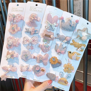 Korea Kawaii Princess Cartoon Hairpins Girls Kids Hair Clips Pin Barrettes Accessories For Children Hairclip Ornaments Headdress - Glitzy Swan