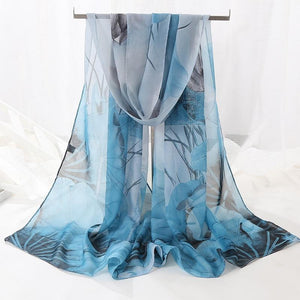 Luxury Beautiful Chiffon Voile Print Scarves - Many Styles - Glitzy Swan