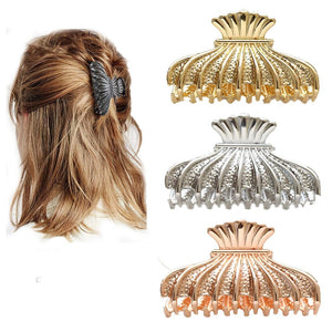 Luxury Metal Hair Claw Accessories Gold Color Hair Claw Clips - Glitzy Swan