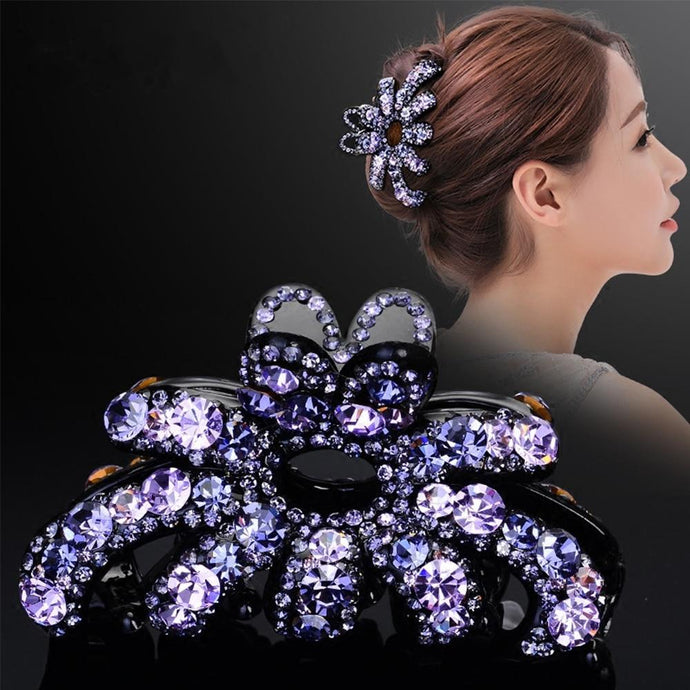 Luxury Butterfly Crystal Rhinestone Hair Clip Claw Hair Jewelry Accessories - Glitzy Swan
