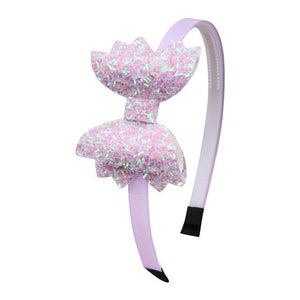 Children Bow Hairband Rainbow Headband Girls - Glitzy Swan