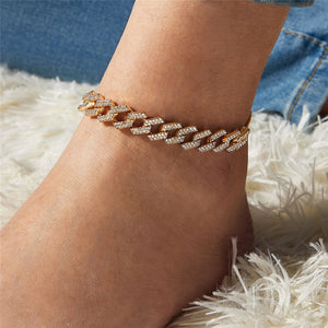 Luxury Adjustable Chain With Crystal Rhinestones Anklet Bracelet Jewelry