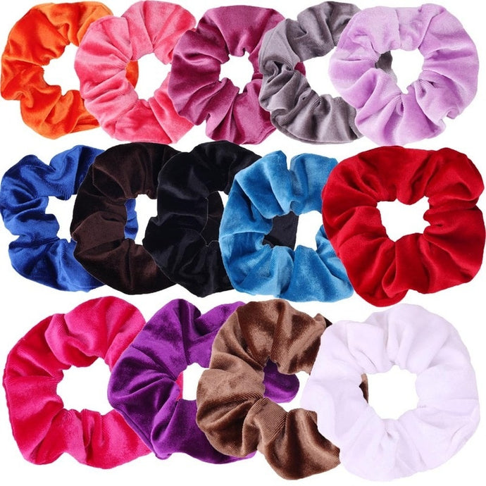 Bright Colors Solid Velvet Scrunchies