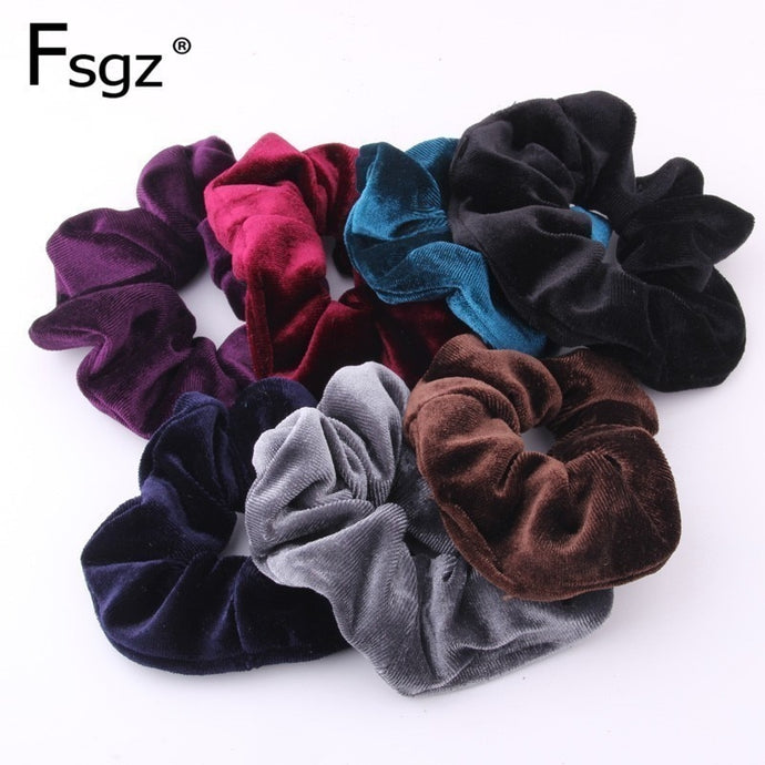 Plushy Solid Quality Velvet Hair Band Scrunchies