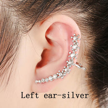 Load image into Gallery viewer, Ear Cuff Full Crystal Flower Clip Earring Jewelry Accessories - Haute Swan LLC